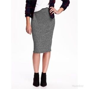 Old Navy Knit Heather Gray Pencil Skirt Large